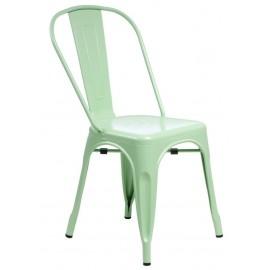 Krzesło Paris zielone inspirowane Tolix
