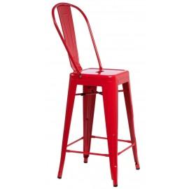Stołek barowy ParisBack czerwony inspiro wany Tolix