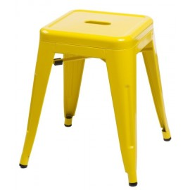 Stołek Paris żółty inspirowany Tolix