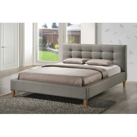 Texas łóżko tapicerowane tkanina szara