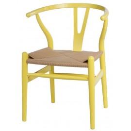 Krzesło Wicker Color żółte
