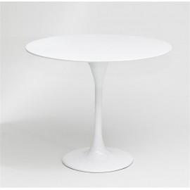 Stolik Fiber o60 biały włókno szklane