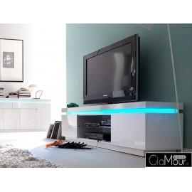 Szafka RTV biała LED Oceana I