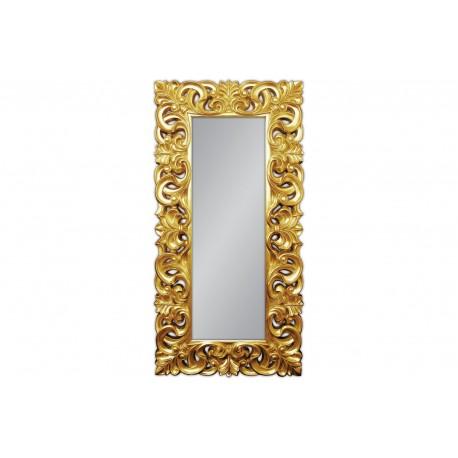 Prostokątne lustro w złotej oprawie 90x180
