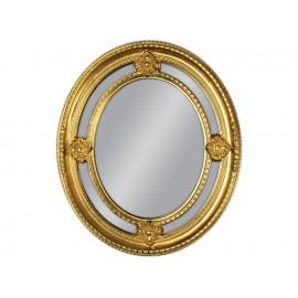 Lustro okrągłe w złotej ramie 62x72cm