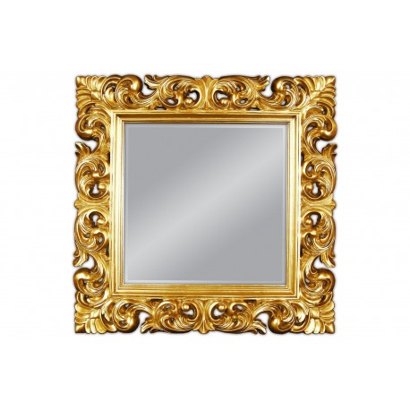 Lustro w złotej ramie 92x92 cm