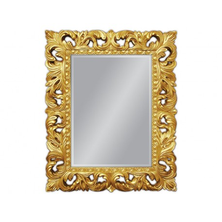 Eleganckie lustro złote 80x100cm