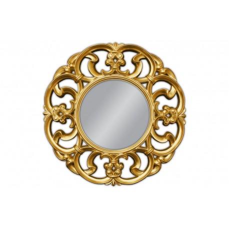Okrągłe lustro złote 100x100cm