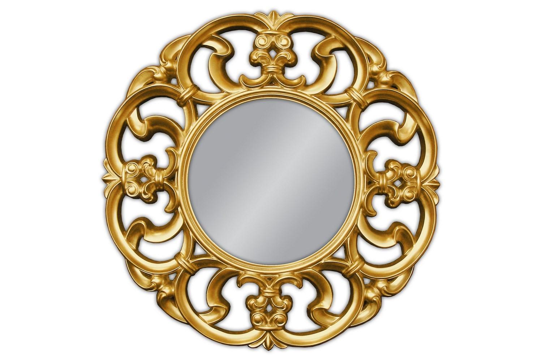 Chwalebne Okrągłe lustro złote 100x100cm - MebleGlamour.pl MG65