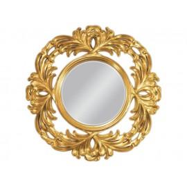 Eleganckie lustro okrągłe w złotej ramie 100x100cm