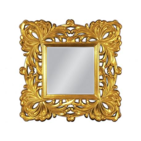 Lustro w złotej ramie 100x100cm