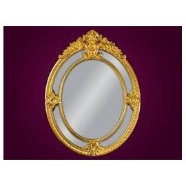 Ozdobne lustro złote 100x133cm