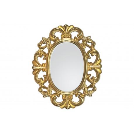 Ozdobne lustro w złotej 66x80cm