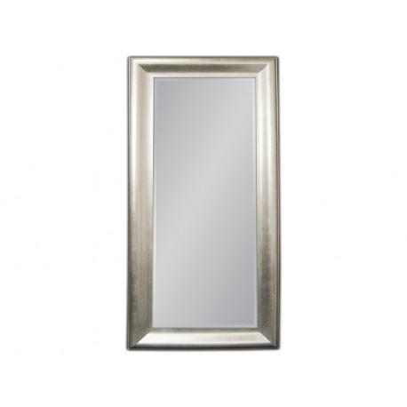 Eleganckie lustro w srebrnej ramie 100x190cm