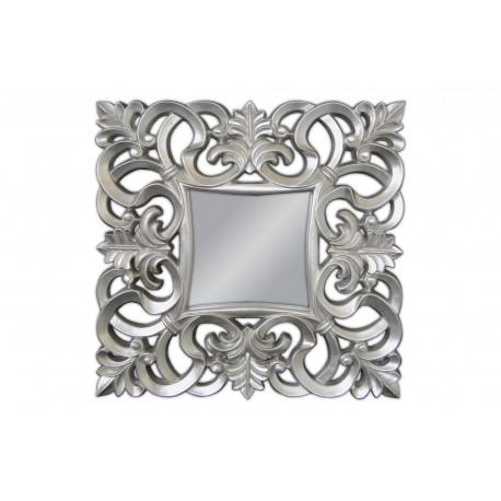 Eleganckie lustro srebrna rama 76x76