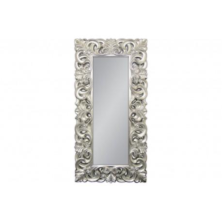 Ozdobne lustro srebrna rama 90x180cm