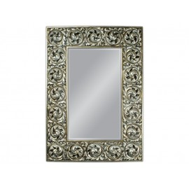 Ozdobne lustro srebrna rama 99x138cm