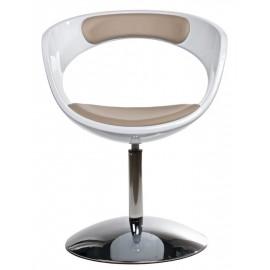 Fotel FLOP K- biały S- beż