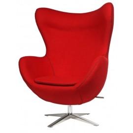 Fotel Jajo szeroki tkanina czerwona JA-2712 z przeszyciem