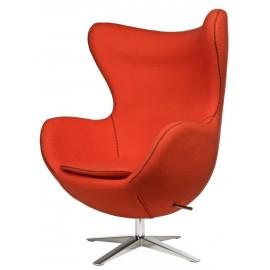 Fotel Jajo szeroki tkanina pomaranczowa JA-2717 z przeszyciem