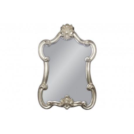 Eleganckie srebrne lustro 61x90cm
