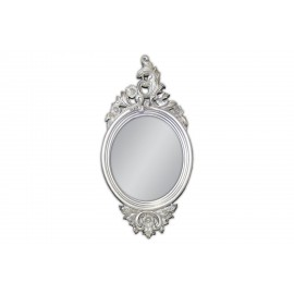 Eleganckie lustro w srebrnej ramie 61x123cm