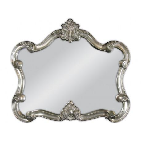 Eleganckie ozdobne lustro w srebrnej ramie 92x109cm