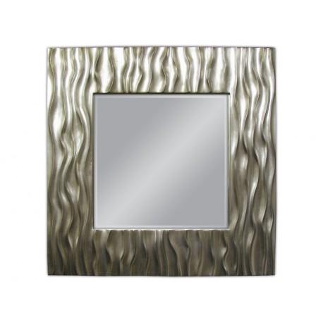 Ozdobne lustro srebrna rama 100x100cm