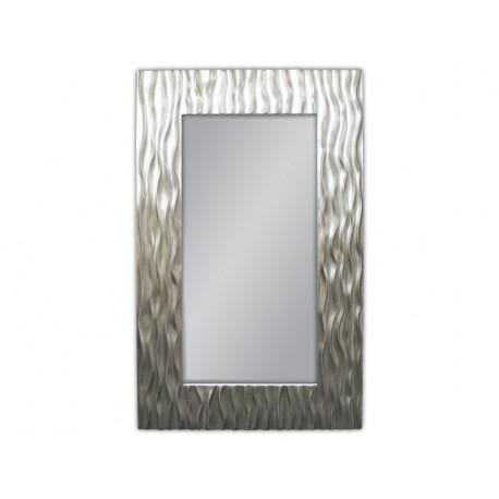 Ozdobne lustro w eleganckiej srebrnej ramie 100x160cm