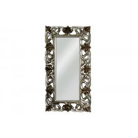 Ozdobne lustro w srebrnej ramie 167x92cm