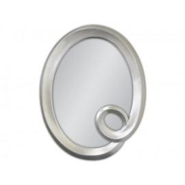 Ozdobne lustro srebrna rama 74x94cm