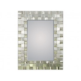 Srebrne ozdobne lustro 129x99cm