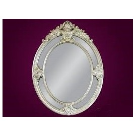 Ozdobne lustro srebrna rama 100x133cm