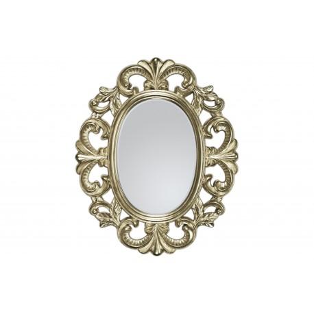 Ozdobne lustro w srebrnej ramie 66x80cm
