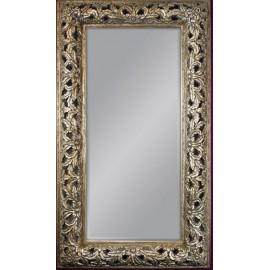Duże ozdobne lustro w srebrnej ramie 131x231cm