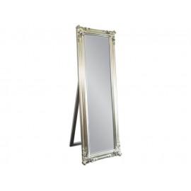 Eleganckie lustro stojące w srebrnej ramie 52x172cm