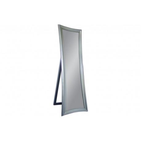 Ozdobne lustro stojące srebrna rama 54x170cm