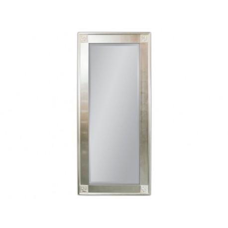 Duże lustro w ozdobnej srebrnej ramie 80x180cm