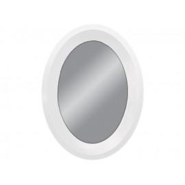 Lustro owal w białej ramie 60x80cm