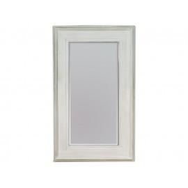 Ozdobne lustro białe przecierane  90x150cm