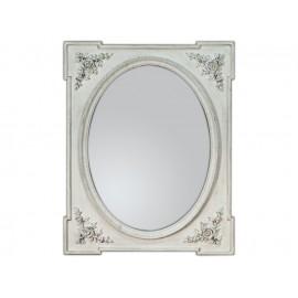 Eleganckie lustro białe przecierane 80x100cm