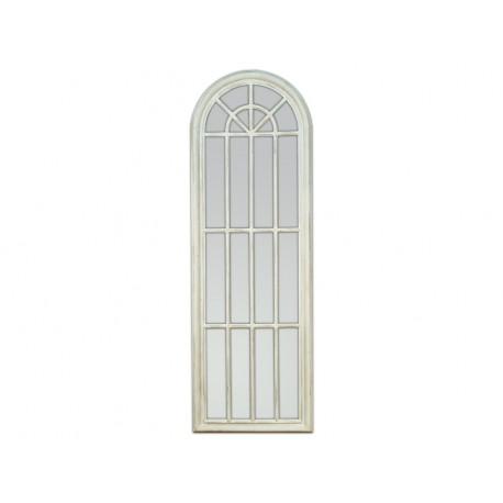 Duże lustro okno biała rama 60x180cm