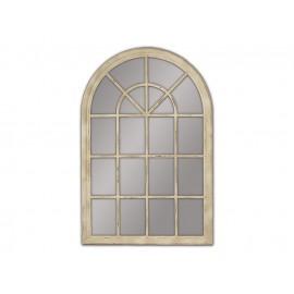 Lustro okno w kremowej ramie 74x104cm