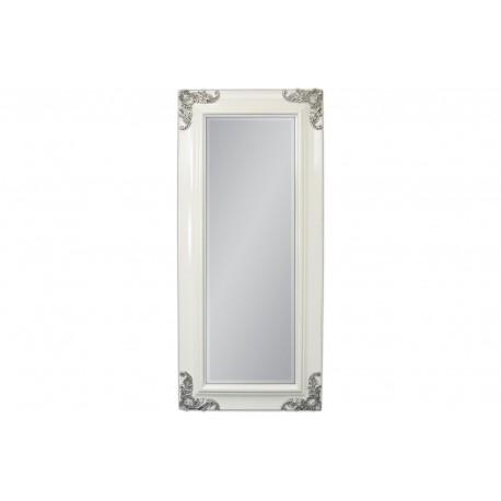 Ozdobne lustro biała rama 80x180cm