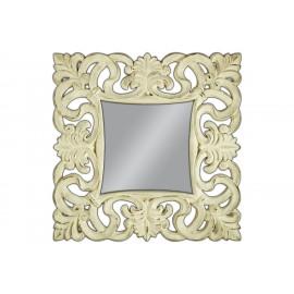 Ozdobne lustro kremowa rama 100x100cm