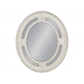 Lustro okrągłe białe 62x72cm