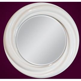 Lustro okrągłe białe 68x68cm