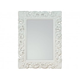 Ozdobne lustro białe 91x121cm