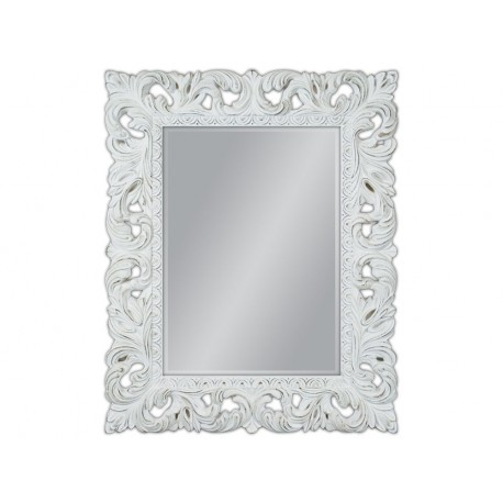 Duże lustro białe przecierane 80x100cm