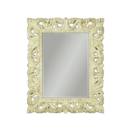 Eleganckie lustro w kremowej ramie 80x100cm